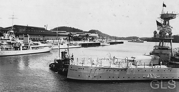 (Flagship of President Franklin D. Roosevelt) in Canal Zone/Panama 1939